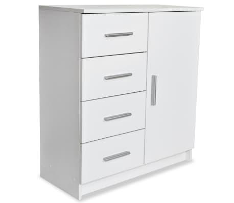 vidaXL Бюфет от ПДЧ, 79x35x88 см, бял