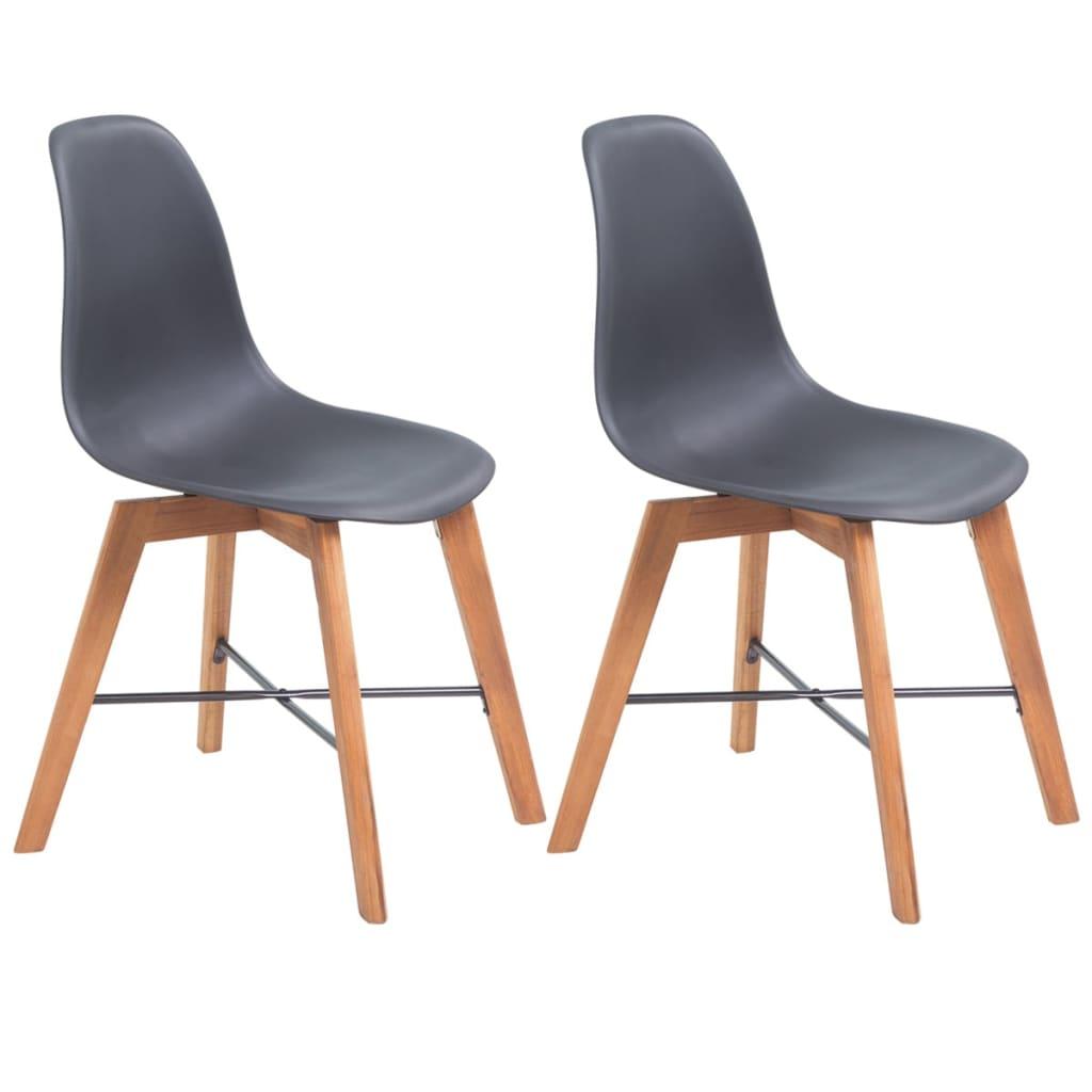 vidaXL Jídelní židle 2 ks černé plast