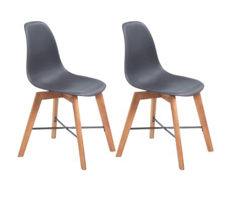vidaXL Jedálenské stoličky 2 ks, čierne, plast