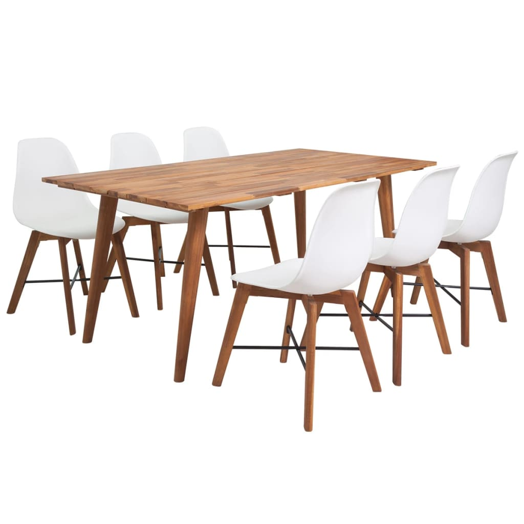 vidaXL Set mobilier de bucătărie, 7 piese, alb vidaxl.ro