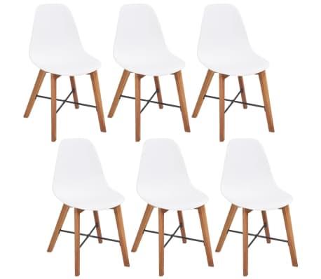 vidaxl esszimmerst hle 6 st ck wei g nstig kaufen. Black Bedroom Furniture Sets. Home Design Ideas