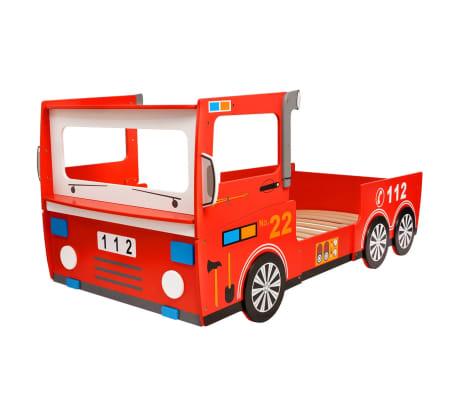 acheter vidaxl lit camion de pompier pour enfants avec matelas 200 x 90 cm pas cher. Black Bedroom Furniture Sets. Home Design Ideas