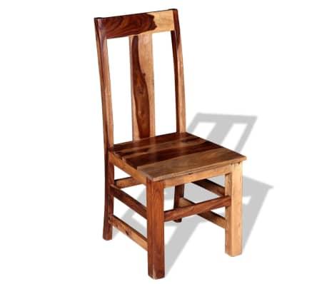 vidaXL Krzesła do jadalni z drewna sheesham, 4 szt.[4/11]