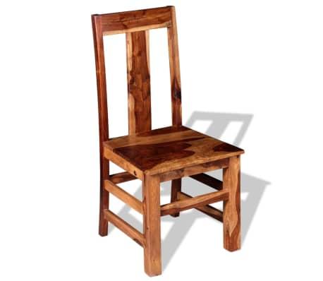 vidaXL Krzesła do jadalni z drewna sheesham, 4 szt.[5/11]