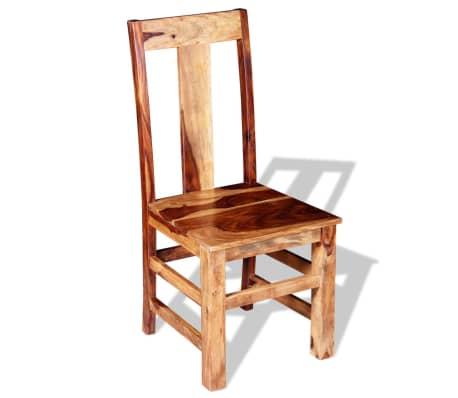 vidaXL Krzesła do jadalni z drewna sheesham, 4 szt.[6/11]