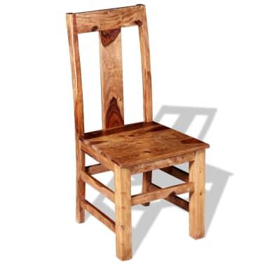 vidaXL Krzesła do jadalni z drewna sheesham, 4 szt.[2/11]