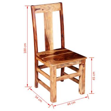 vidaXL Krzesła do jadalni z drewna sheesham, 4 szt.[11/11]