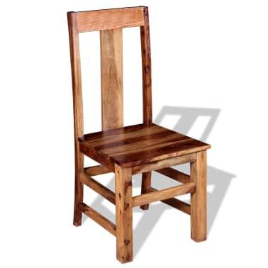 vidaXL Krzesła do jadalni z drewna sheesham, 4 szt.[3/11]