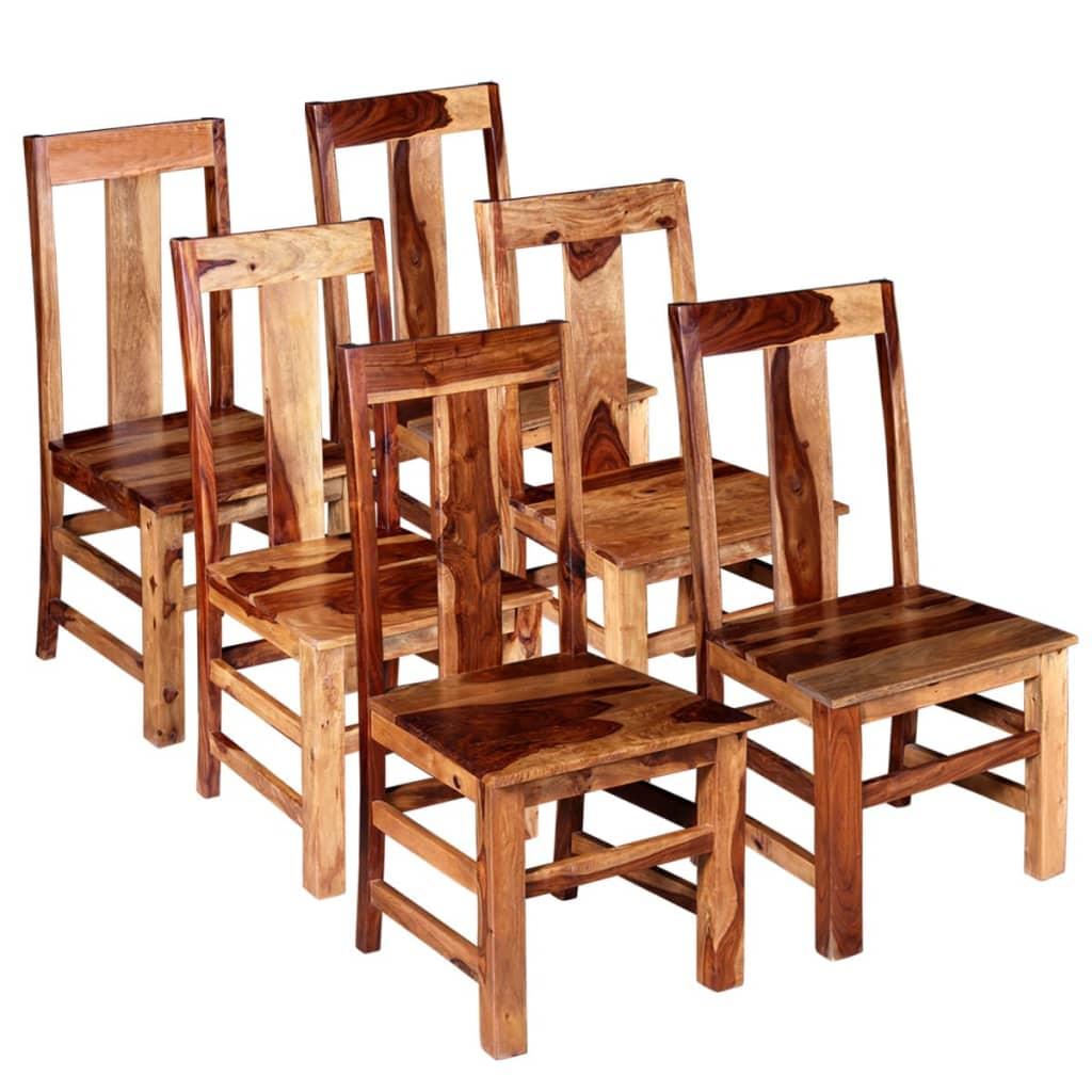 vidaXL Καρέκλες Τραπεζαρίας 6 τεμ. από Μασίφ Ξύλο Sheesham