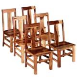 vidaXL Chaise de salle à manger 6 pcs Bois massif de Sesham