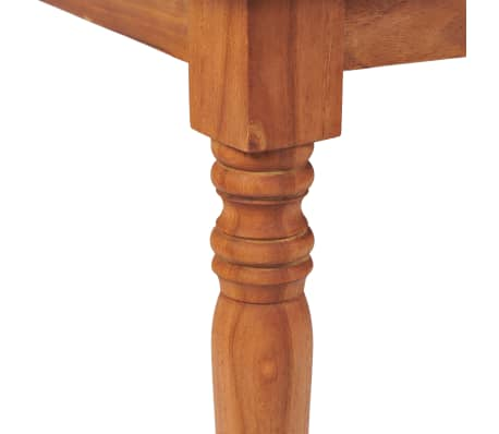Vidaxl set mobili da giardino batavia 7 pz in legno di for Mobili giardino teak