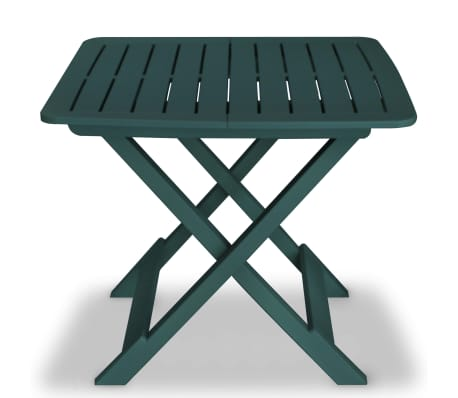 vidaXL Garden Bistro Set 3 Pieces Plastic Green[2/9]