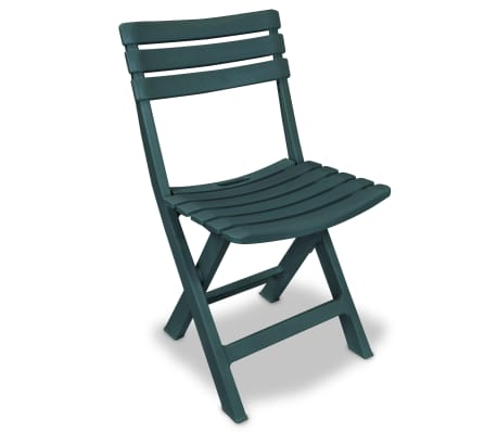 vidaXL Garden Bistro Set 3 Pieces Plastic Green[3/9]