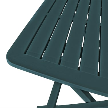 vidaXL Garden Bistro Set 3 Pieces Plastic Green[5/9]