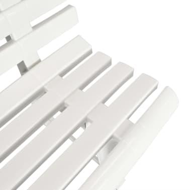 vidaXL Gartenbank 145,5 x 49 x 74 cm Kunststoff Weiß[4/6]