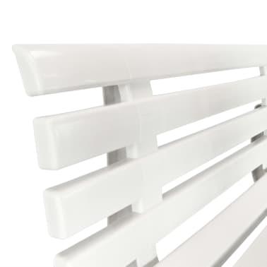 vidaXL Gartenbank 145,5 x 49 x 74 cm Kunststoff Weiß[5/6]