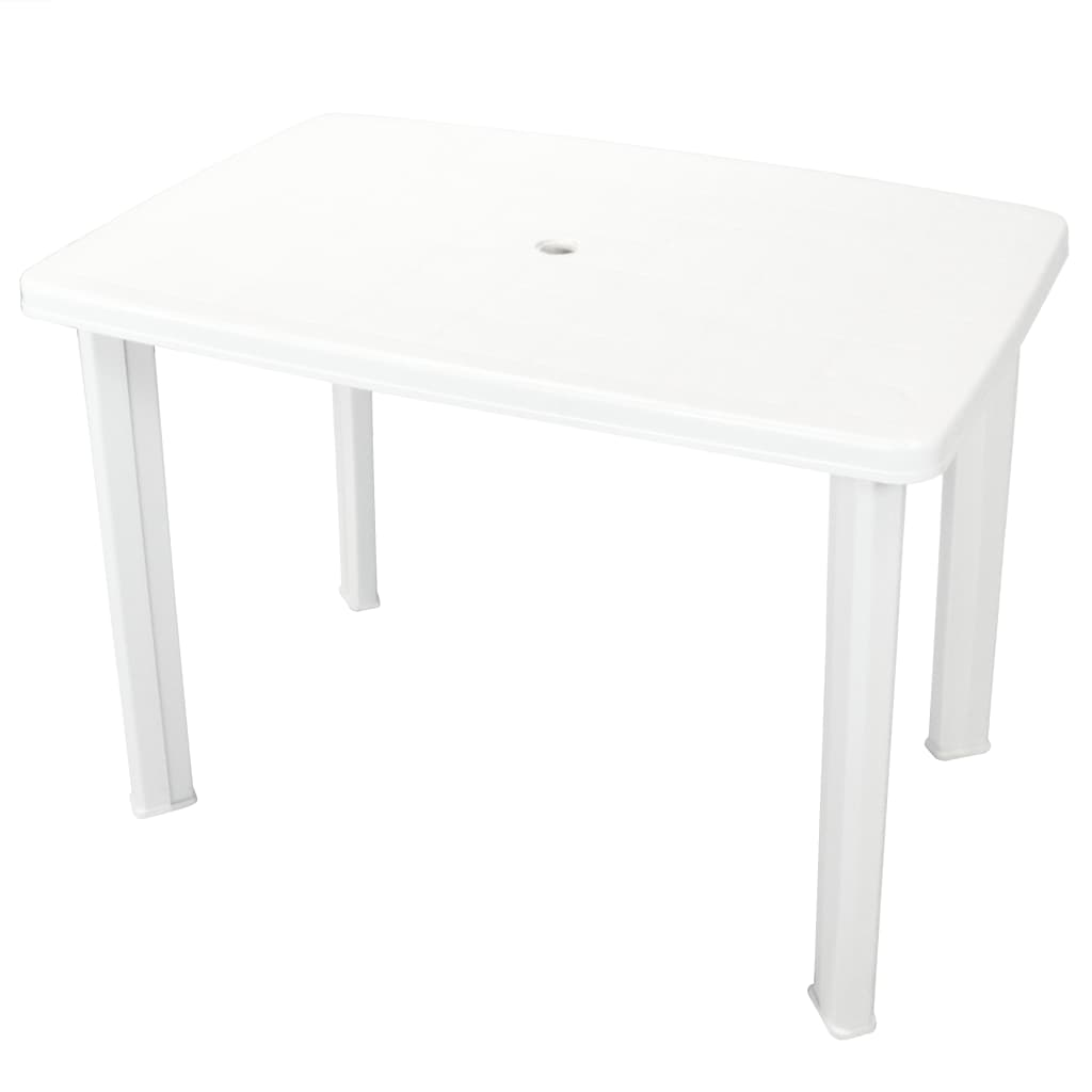 vidaXL Τραπέζι Κήπου Λευκό 101 x 68 x 72 εκ. Πλαστικό