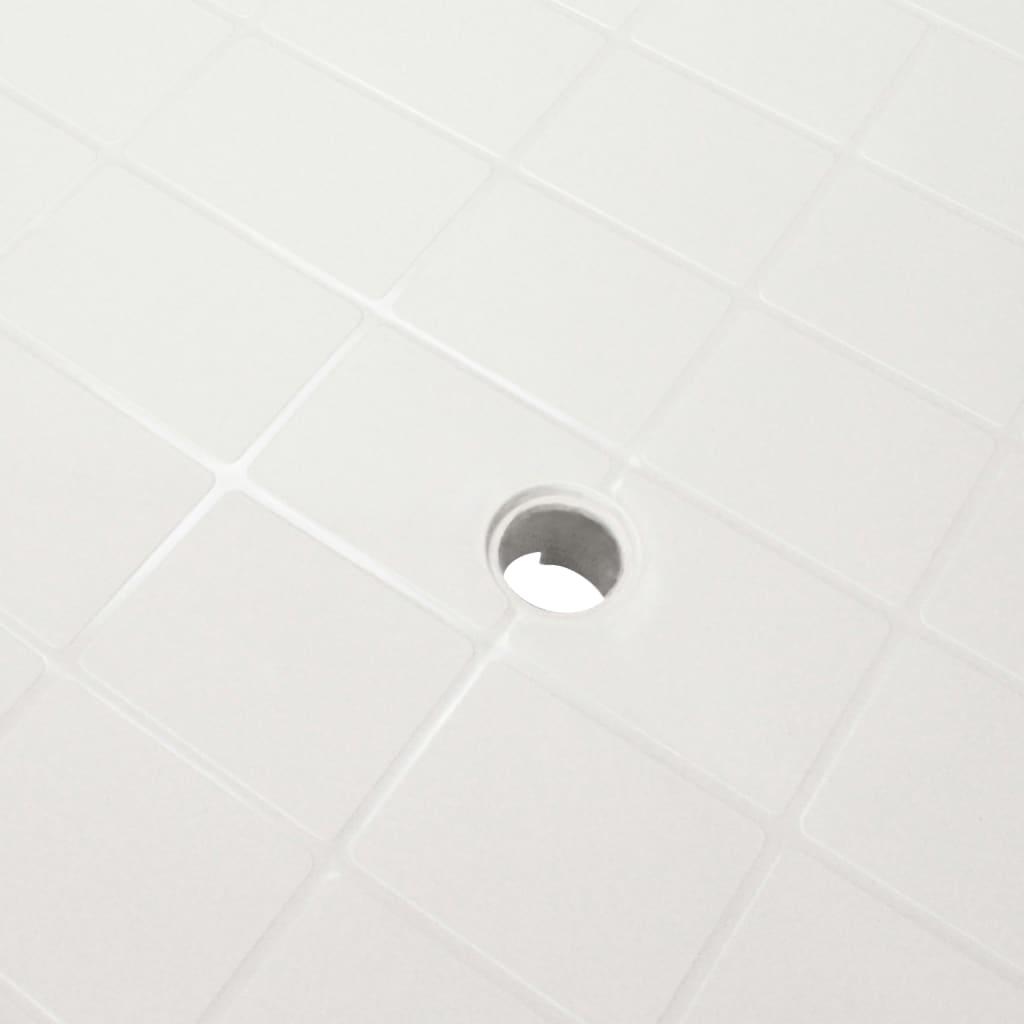 vidaXL Tuintafel 101x68x72 cm kunststof wit