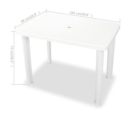 vidaxl gartentisch 101 x 68 x 72 cm kunststoff wei g nstig kaufen. Black Bedroom Furniture Sets. Home Design Ideas