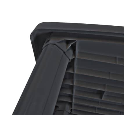 vidaXL Sodo stalas, 101x68x72 cm, plastikas, antracito sp.[3/5]
