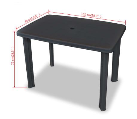 6533bbb0392f Olcsó vidaXL antracit, műanyag kerti asztal 101 x 68 x 72 cm | vidaXL.hu