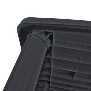 vidaXL Sodo stalas, antracito sp., 101x68x72cm, plastikas[3/5]
