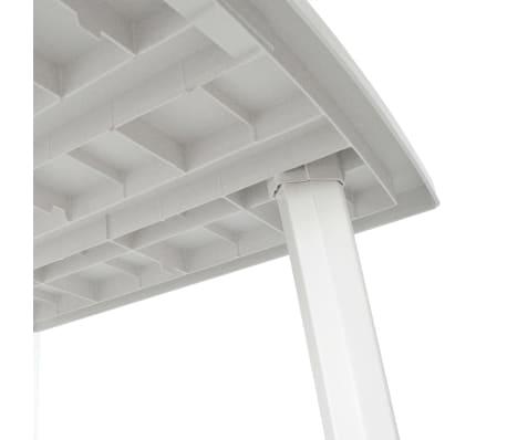 Vidaxl Gartentisch 210 X 96 X 72 Cm Kunststoff Weiss Gunstig Kaufen