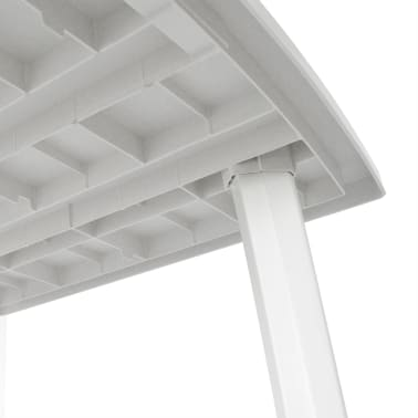 vidaXL Sodo stalas, 210x96x72cm, plastikas, baltas[3/5]