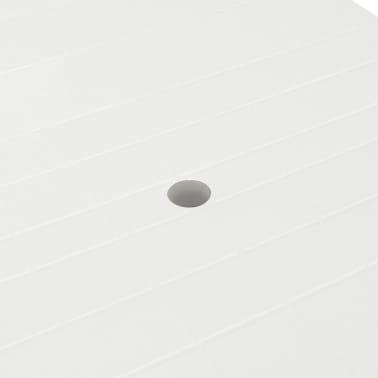 vidaXL Sodo stalas, 210x96x72cm, plastikas, baltas[4/5]