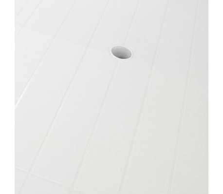 vidaXL Sodo stalas, 126x76x72cm, plastikas, baltas[4/5]