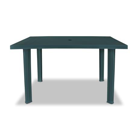 vidaxl mesa de jard n 126x76x72 cm pl stico verde