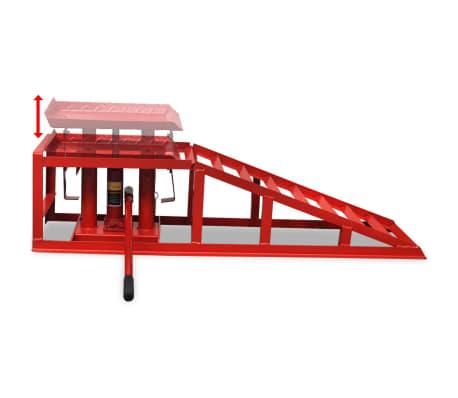 Vidaxl 2x rampe per sollevamento auto in acciaio rosso for Rampe sollevamento auto