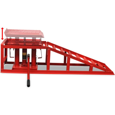 vidaXL Car Repair Ramps 2 pcs Red Steel[2/5]