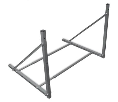vidaXL Faltbarer Reifenständer Silbern Verzinkter Stahl[4/5]