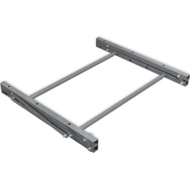 vidaXL Faltbarer Reifenständer Silbern Verzinkter Stahl[5/5]