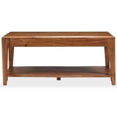 vidaXL Kavos staliukas, medienos masyvas, 88x50x38cm[2/12]