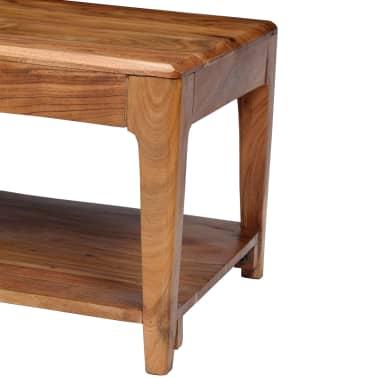 vidaXL Kavos staliukas, medienos masyvas, 88x50x38cm[3/12]