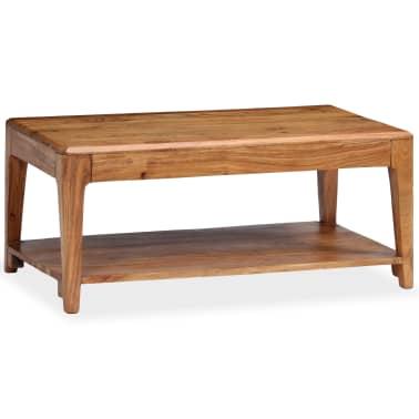 vidaXL Kavos staliukas, medienos masyvas, 88x50x38cm[9/12]