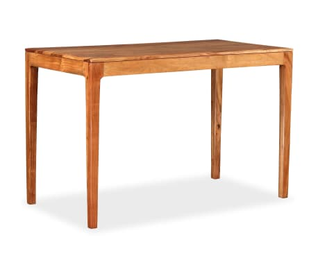 vidaXL Table de salle à manger Bois massif 118 x 60 x 76 cm