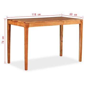 Vidaxl mesa de comedor de madera maciza 118x60x76 cm for Mesas de comedor de madera maciza