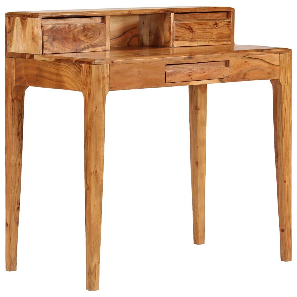 vidaXL Pisaći stol s ladicama od masivnog drva 88 x 50 x 90 cm