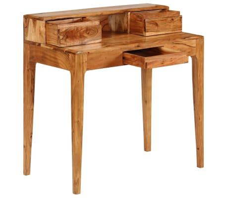 vidaXL Rašomasis stalas su stalčiais, mediena, 88x50x90cm[3/13]