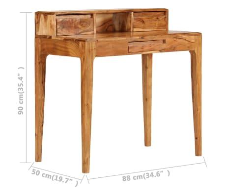 vidaXL Rašomasis stalas su stalčiais, mediena, 88x50x90cm[9/13]