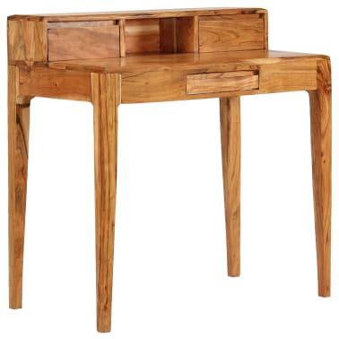 vidaXL Rašomasis stalas su stalčiais, mediena, 88x50x90cm[13/13]