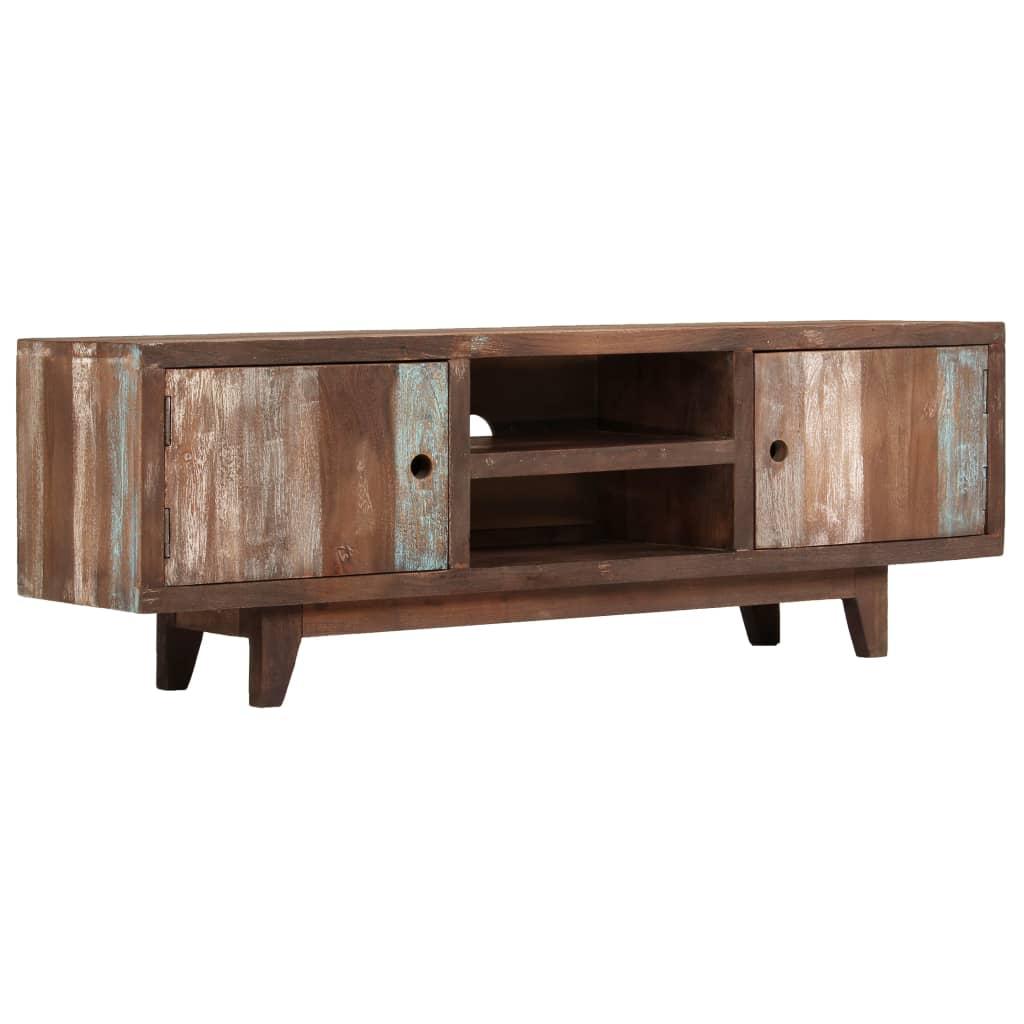 vidaXL TV stolek z masivního akáciového dřeva vintage 118 x 30 x 40 cm