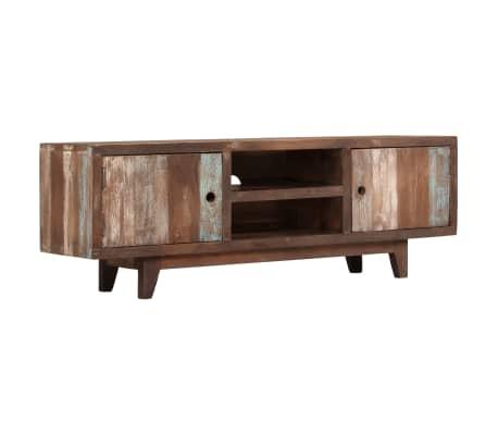 Porta Tv Vintage.Vidaxl Mobile Porta Tv In Legno Di Acacia Stile Vintage 118x30x40 Cm