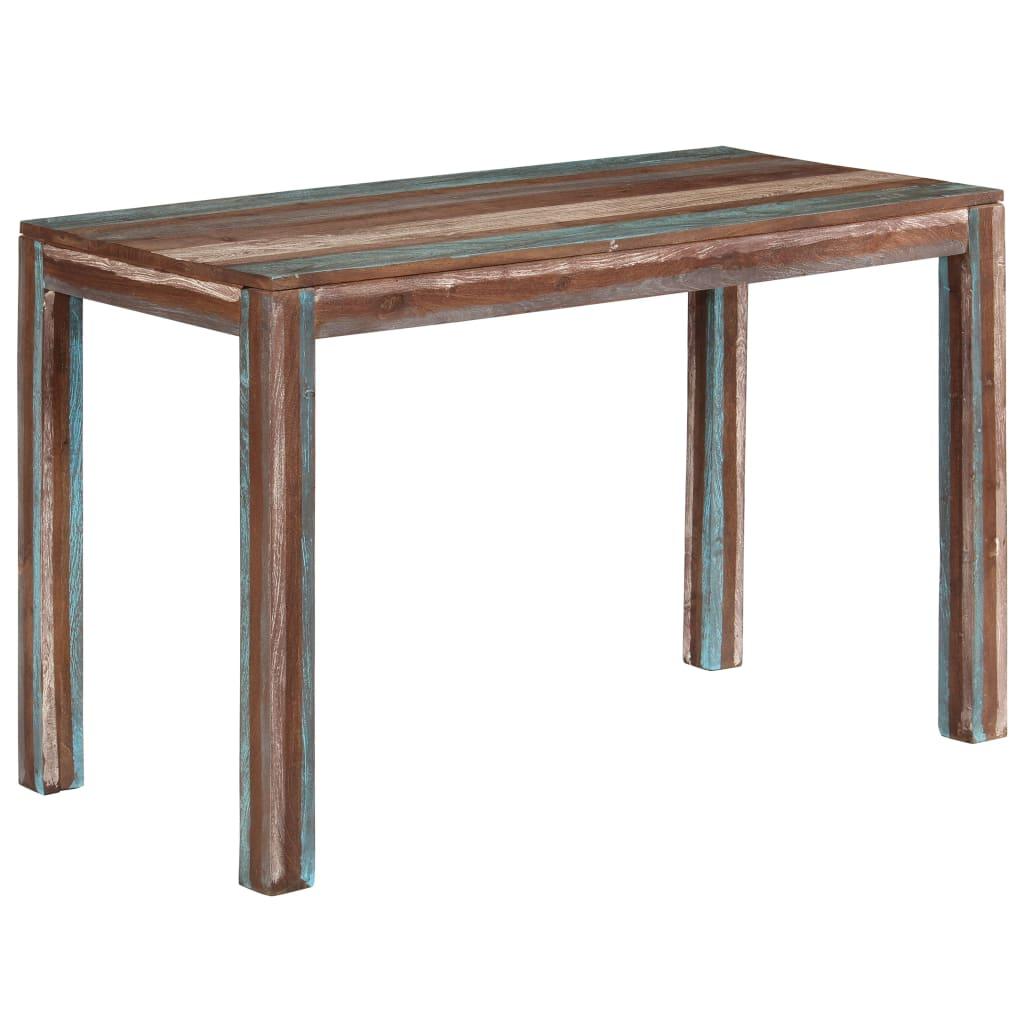 vidaXL Jídelní stůl z masivního dřeva vintage 118 x 60 x 76 cm