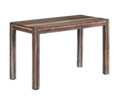 vidaXL virtuves galds, antīks stils, 118x60x76 cm, masīvkoks
