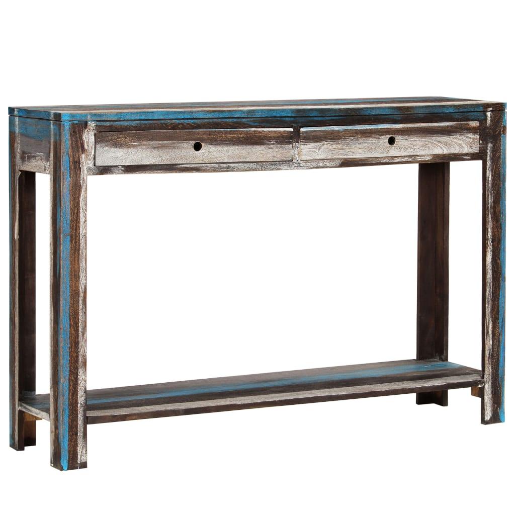vidaXL Konzolni stol od masivnog drva starinski 118 x 30 x 80 cm