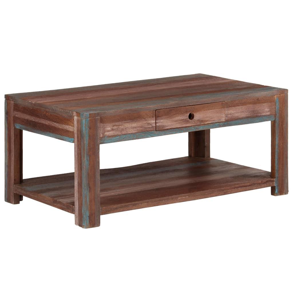 vidaXL Konferenční stolek z masivního dřeva vintage 88 x 50 x 38 cm